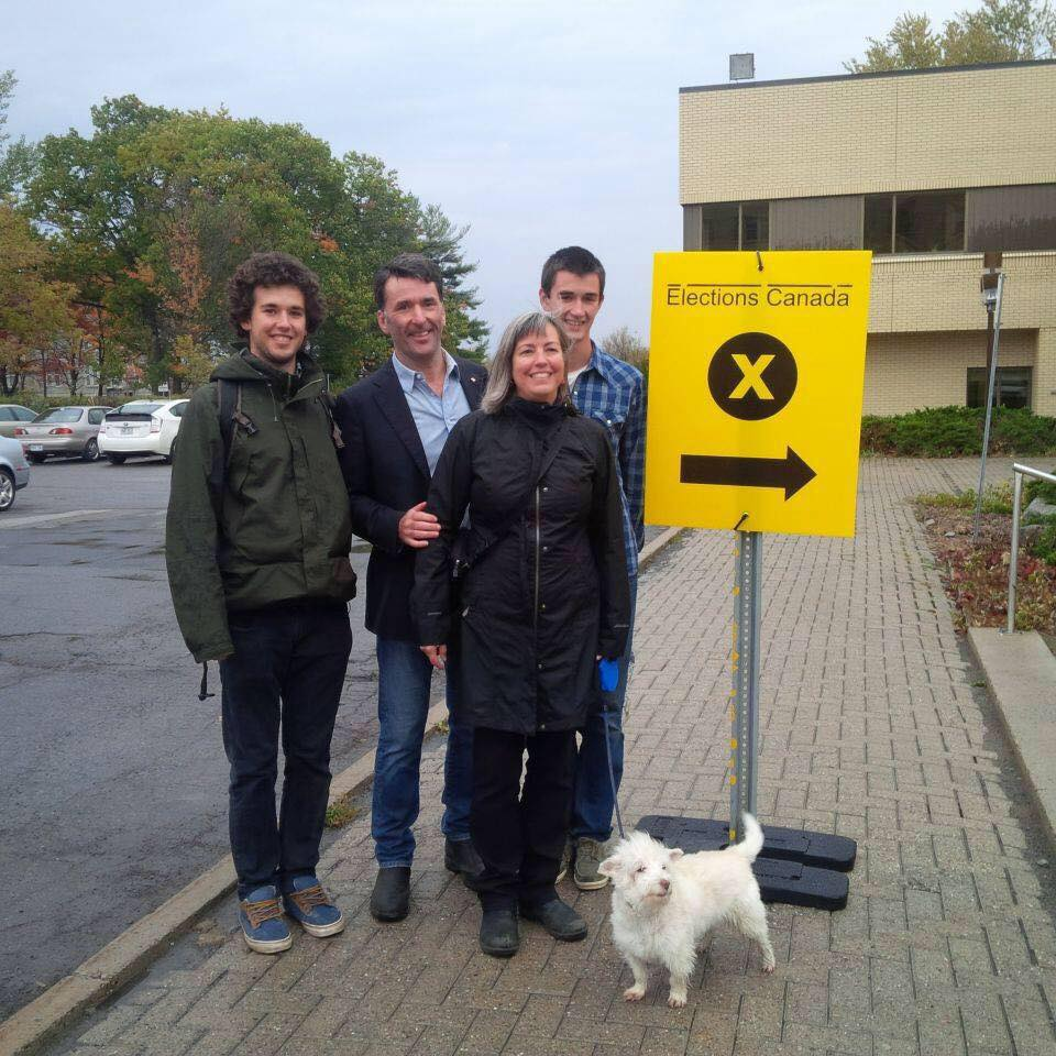 Former Ottawa Centre Member of Parliament Paul Dewar, with his wife, Julia Sneyd, and their sons. After nine years as an MP, Dewar lost the Oct. 19 federal election to Liberal Catherine McKenna. FAMILY-SUPPLIED PHOTO