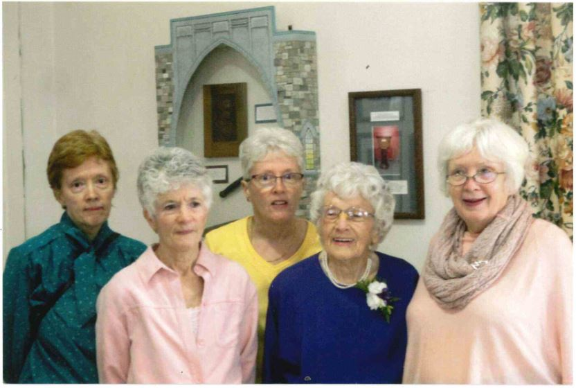Surrounded by her four daughters, Betty Hill celebrated her 100th Birthday Party at Southminster United Church back on December 9, 2016. L to R: Susan Hill, Margaret(