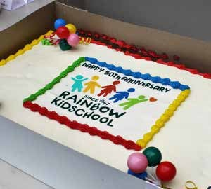 It wouldn't be a party without cake. The Green Door, Watson's Pharmacy, REALTOR® Daria Kirk, Fiesta Party, Loblaws, ScotiaBank, Greystone Village and Farm Boy Trainyards plus some generous families made all of this happen with their donations.Photo by Meredith Newberry