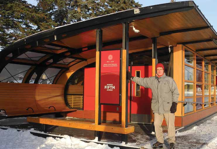 Old Ottawa East architect Anthony Leaning with CSV Architects designed the warm, comfortable and iconic skate shelters of the Skateway. Photo by John Dance
