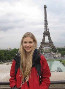 As a teenager, Amanda Nimmo travelled to Paris for one of her first international fashion photo shoots, but not before some classic tourist photos! Supplied Photo
