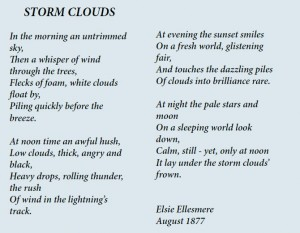 An original poem authored by Ella Lees, using the pseudonym Elsie Ellesmere, was one of many literary works featured in the Wildwood Echo. Supplied Photo