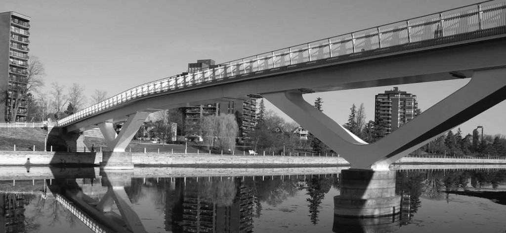 The majestic span of the Flora Footbridge has brought dramatic new design to the infrastructure of Old Ottawa East.