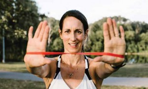 OOE Physiotherapist and fitness trainer Katie Ireland is working hard to adapt her home business during times of COVID-19. Supplied Photo