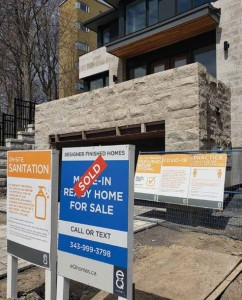 April 2020 has proven to be a most challenging month for real estate professionals across Canada, and those in Old Ottawa East were hit as hard as any by COVID-19. Despite the uncertainty for what the next few months will hold, some encouraging signs point to increased sales ahead. Photo by Lorne Abugov