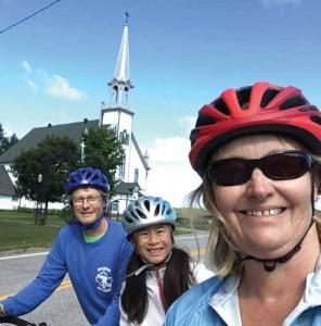 Selfie of David Chernushenko and his family out biking.  Photo Supplied