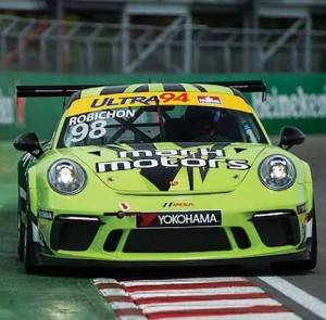 Robichon drives the Mark Motors Porsche GT3 Canada Cup in Montreal in 2017. Photo by Lesson Photo