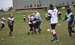 The University of Ottawa's quidditch team, a long-time user of the Springhurst-Lees field, has launched a letter writing campaign to convince politicians to cancel plans to build a four-lane road through the area. Photo by Vanessa Kraus