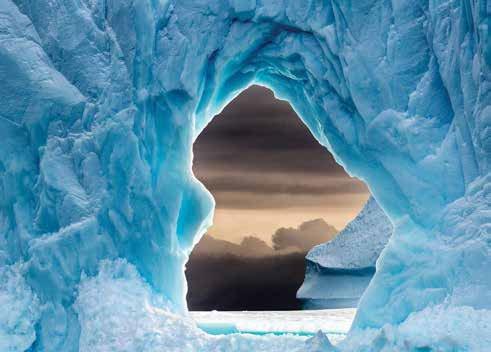 View through iceberg, 2019. Photo by Jim Lamont