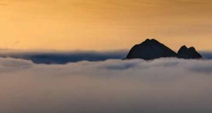 Approaching Warming Island at dawn, 2019. Photo by Jim Lamont