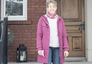 Lynda Colley, pictured here on her front steps in Old Ottawa East, has volunteered with The Dementia Society of Ottawa and Renfrew County since 2008, and has chaired the organization's Board of Directors for the past four years. Photo by Theresa Wallace
