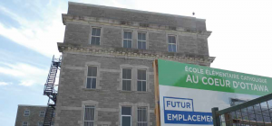 """CECC say construction of the new school in the Deschâtelets Building is """"progressing well."""" The school will tentatively open in 2022.  Photo By John Dance"""