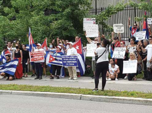 COVID Mismanagement- Cuban Embassy Protest