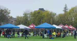 Old Ottawa East's business establishments offered generous donations, including these tents, to the two Jabapalooza events in the community.  Photo Supplied